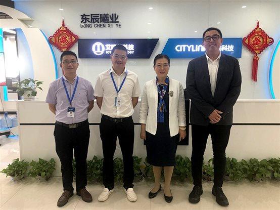 东软汉枫医疗科技卢朝霞董事长一行莅临艾欧特科技考察访问